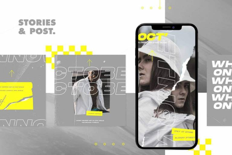 instagram ads and story graphics